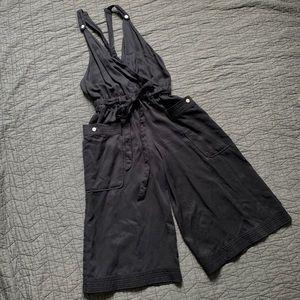 Anthropologie Elevenses Black Sable Jumpsuit